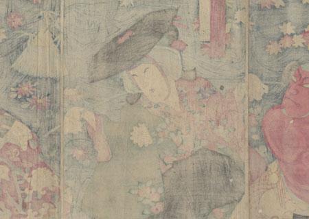 Traveling at Night, 1881 by Chikanobu (1838 - 1912)