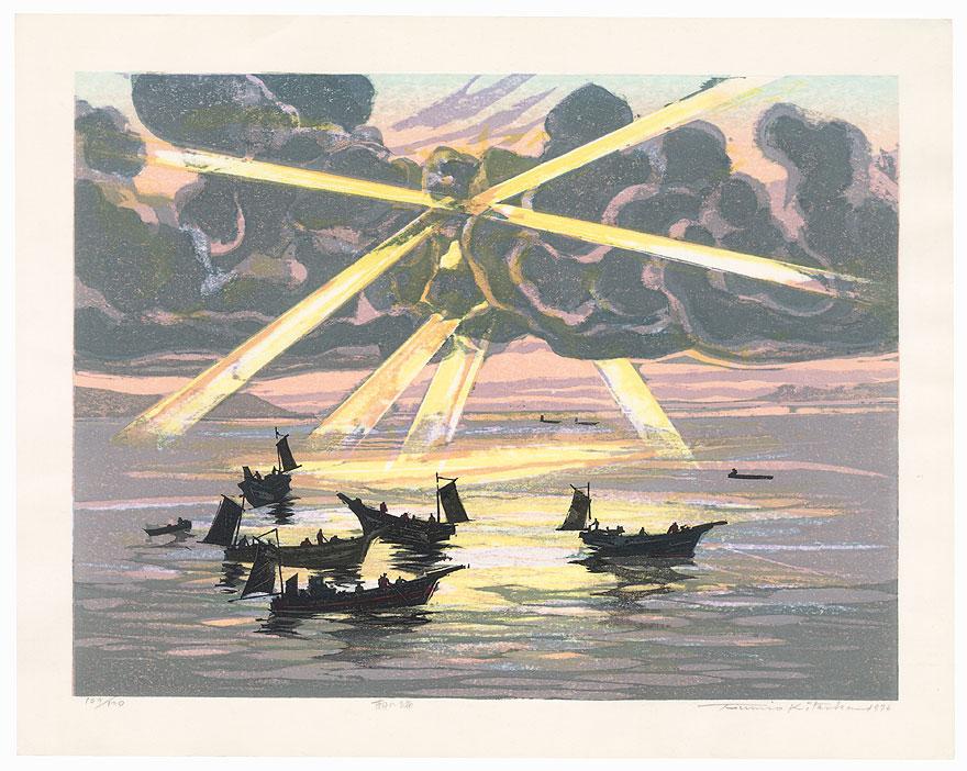Morning at Sea, 1976 by Fumio Kitaoka (1918 - 2007)
