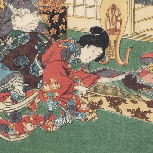 Tenerai, Chapter 53 by Toyokuni III/Kunisada (1786 - 1864)