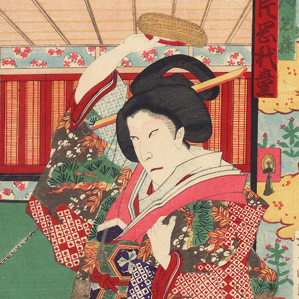 Iwafuji Berating Onoe, 1886 by Kunisada III (1848 - 1920)