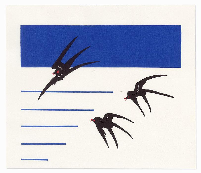 Flying Swallows, 1985 by Makoto Kobayashi