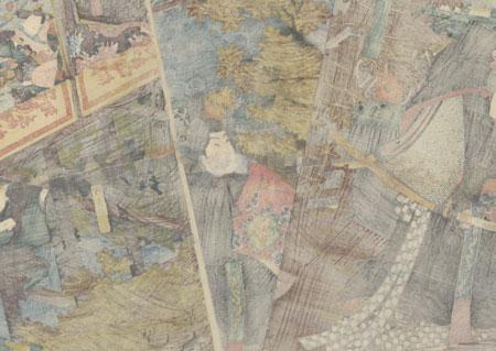 Scene from the Higashiyama Storybook, 1851 by Toyokuni III/Kunisada (1786 - 1864)