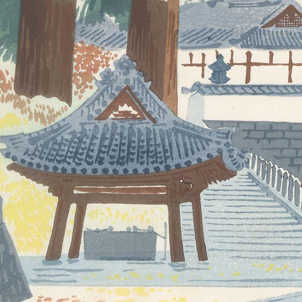 Temple in Autumn by Tokuriki (1902 - 1999)