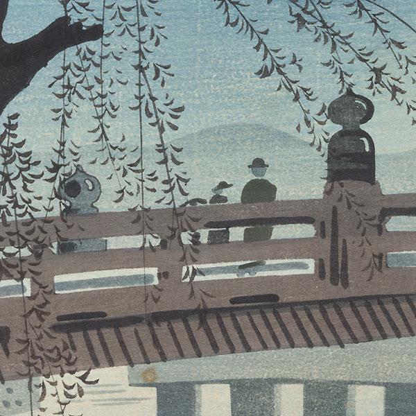 The Great Sanjo Bridge in Summer by Tokuriki (1902 - 1999)