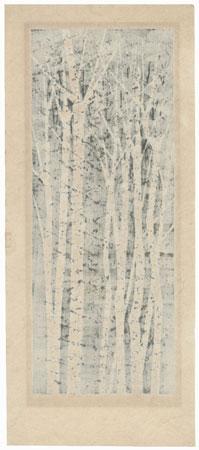 River Bank of White Birches C, 1978 by Fumio Fujita (born 1933)