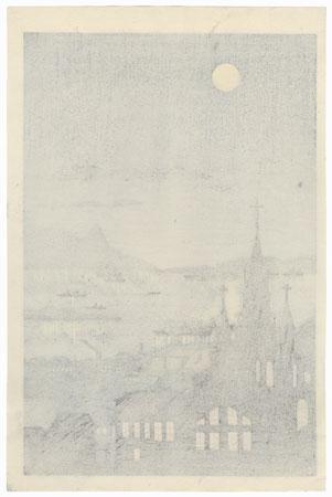 Night View by Tokuriki (1902 - 1999)