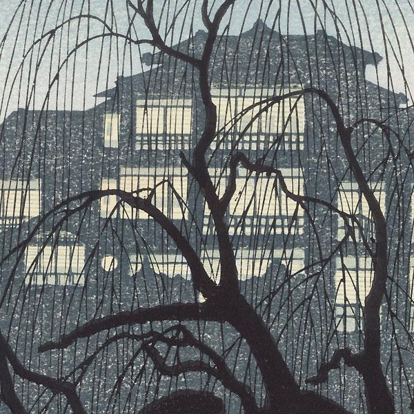 Kamogawa Spring Evening by Tokuriki (1902 - 1999)