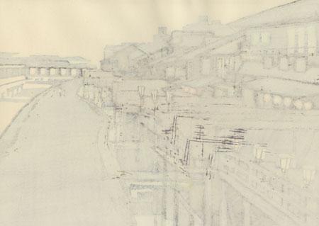 Kyoto Kawadoko by Miyata Saburo (1924 - 2013)