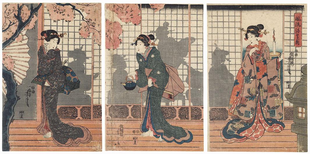 Fashionable Spring Moon, 1847 - 1852 by Yoshitora (active circa 1840 - 1880)