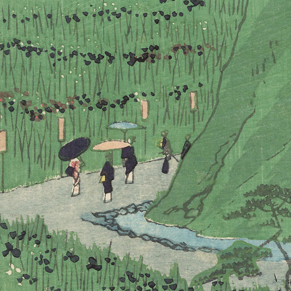 Irises at Horikiri by Hiroshige II (1826 - 1869)