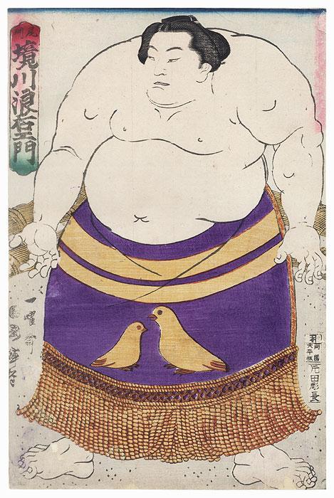 Sumo Wrestler Sakaigawa Namiemon by Kuniteru II (1829 - 1874)