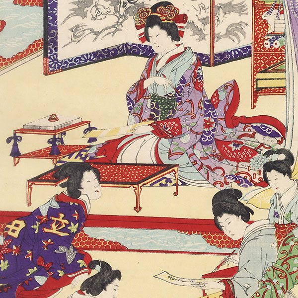 Poetry Contest by Gyosui (1868 - 1935)