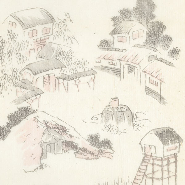 Country Houses by Hokusai (1760 - 1849)