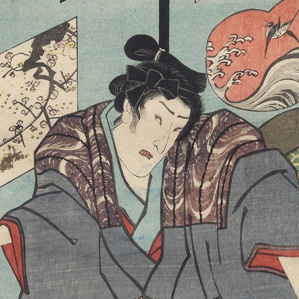 Eavesdropping, 1860 by Toyokuni III/Kunisada (1786 - 1864)
