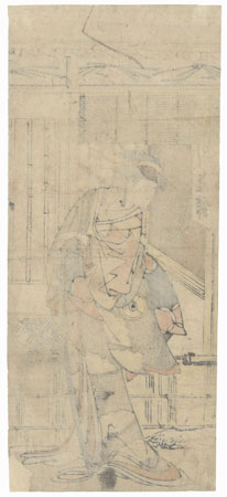 Actor as a Beauty with a Sword by Edo era artist (unsigned)