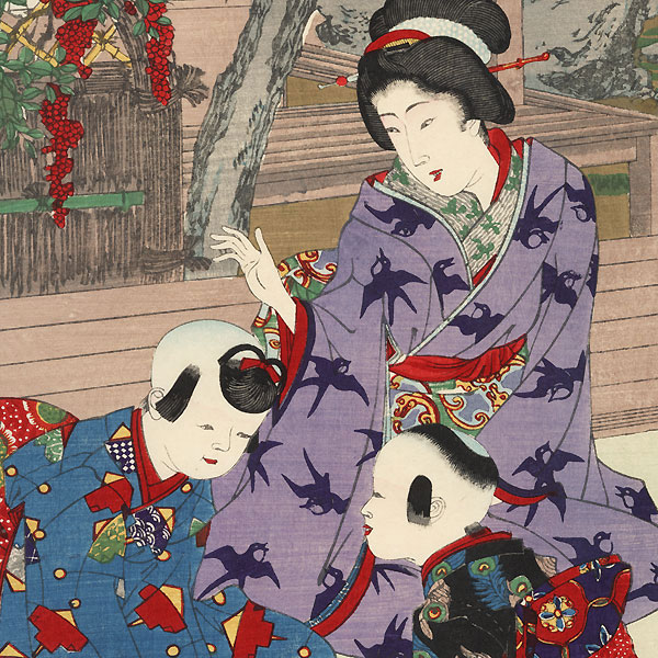 Education for Girls, 1891 by Chikanobu (1838 - 1912)