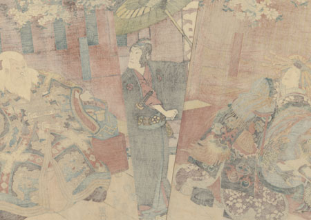 Sukeroku: Cherry Blossoming Viewing Time in the District, 1855 by Kunisada II (1823 - 1880)