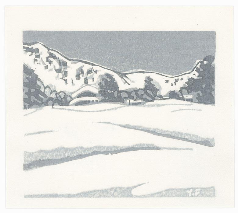 Mountain Snow, 1986 by Yoshisuke Funasaka (born 1939)