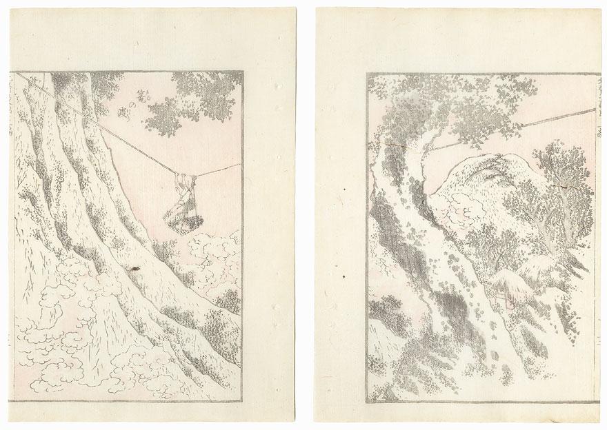 Basket Ferry by Hokusai (1760 - 1849)