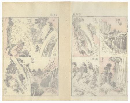 Waterfalls by Hokusai (1760 - 1849)