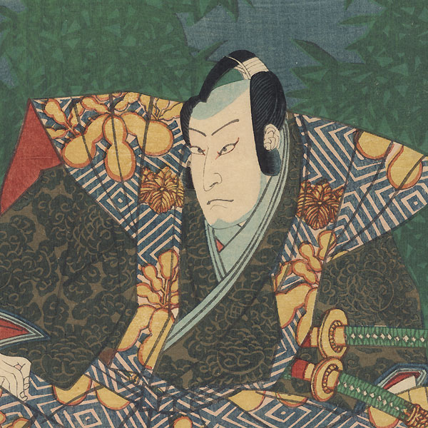 Bando Hikosaburo as Konoshita Tokichi and Kawarasaki Gonjuro as Ishikawa Goemon, 1863 by Yoshitora (active circa 1840 - 1880)