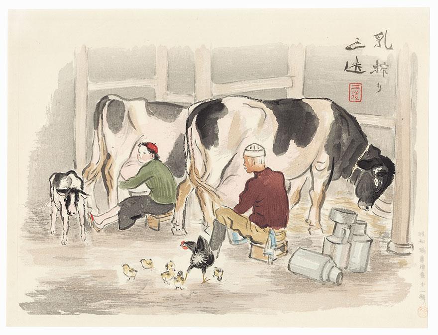 Milker, 1940 by Wada Sanzo (1883 - 1968)