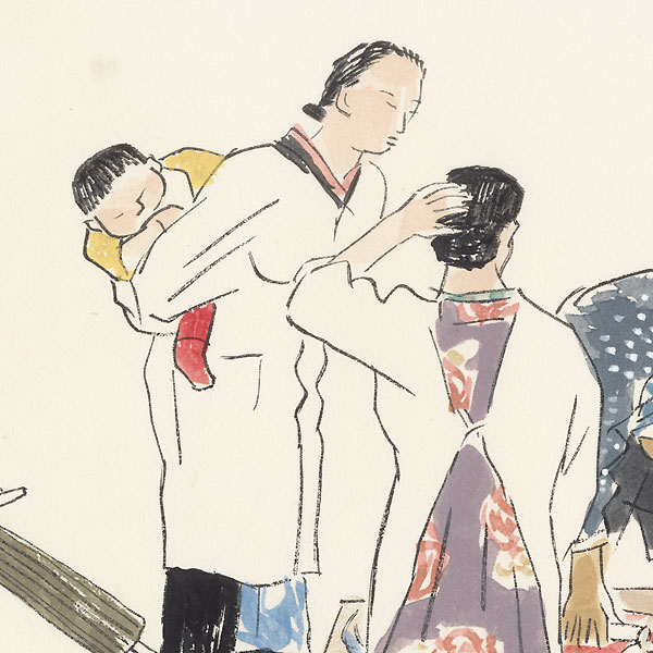 Fish Market, 1940 - 1941 by Wada Sanzo (1883 - 1968)