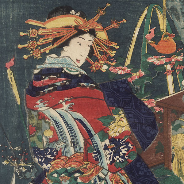 Takigawa, 1861 by Toyokuni III/Kunisada (1786 - 1864)