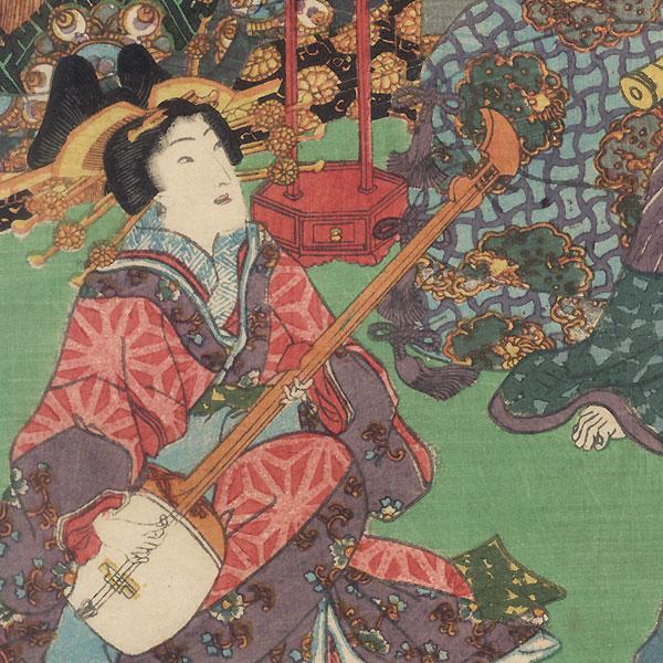 Komurasaki, 1861 by Toyokuni III/Kunisada (1786 - 1864)