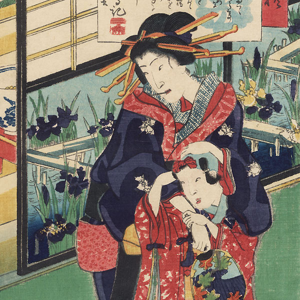 Yatsuhashi, 1861 by Toyokuni III/Kunisada (1786 - 1864)
