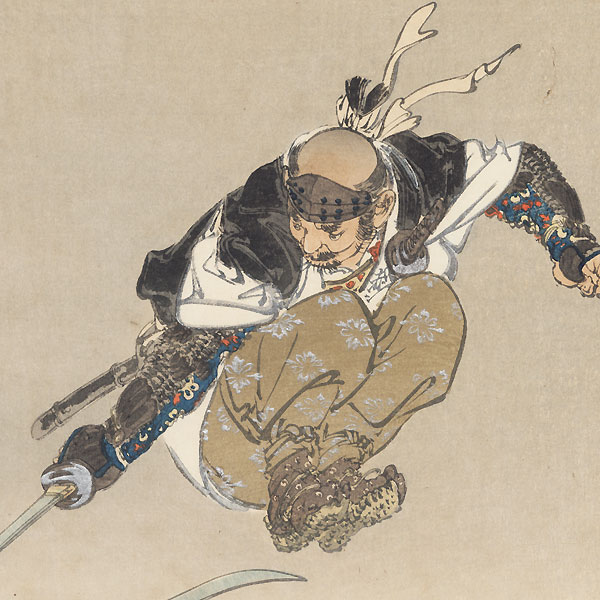 Tominomori Sukeemon Masanori by Gekko (1859 - 1920)