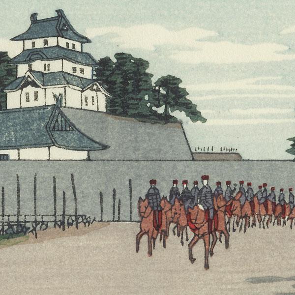Three-Story Tower in the Inner Keep by Yasuji Inoue (1864 - 1889)