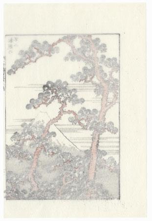 Fuji through Pines by Hokusai (1760 - 1849)