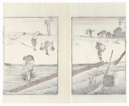Fuji over a Bank by Hokusai (1760 - 1849)