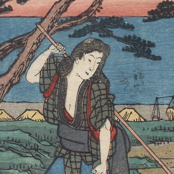 Okitsu, 1852 by Hiroshige (1797 - 1858)