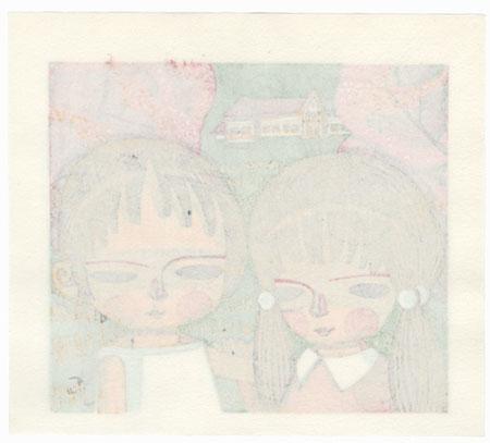 Cherry Blossom Children, 1986 by Shuzo Ikeda (1922 - 2004)