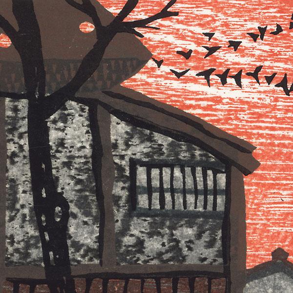 Farm at Twilight, 1986 by Shiro Takagi (born 1934)