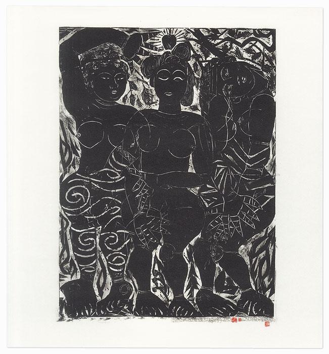 Three Women by Munakata (1903 - 1975)
