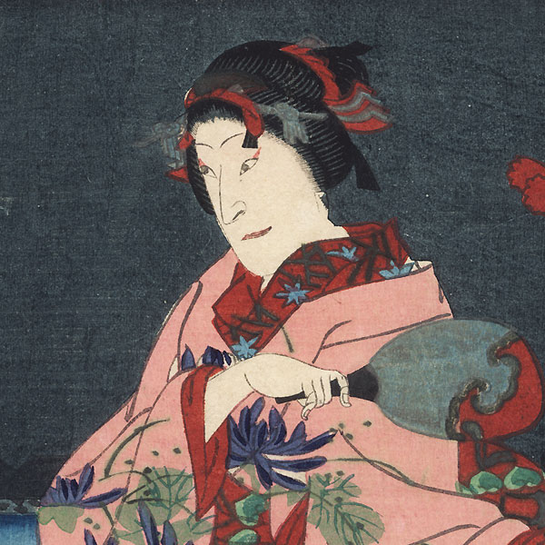 Beauty on a Pleasure Boat, 1871 by Yoshitaki (1841 - 1899)