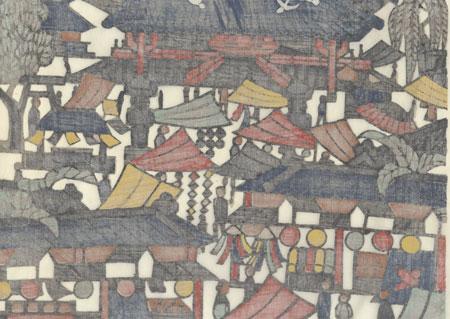 Asakusa Landscape, 1962 by Yoshitoshi Mori (1898 - 1992)