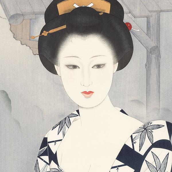 Woman after a Bath by Watanabe Tairyu (1928 - ?)