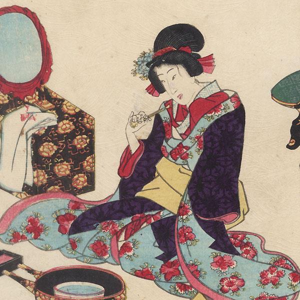 Yadorigi, Chapter 49 by Kunisada II (1823 - 1880)