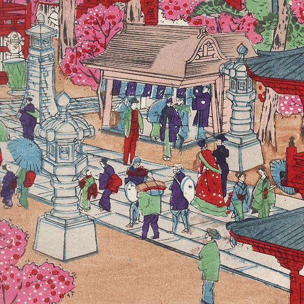 Asakusa Kinryuzan by Hiroshige III (1843 - 1894)