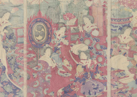 Spring Scenery: Melody of a Musical Performance by Fusatane (active circa 1850 - 1870)