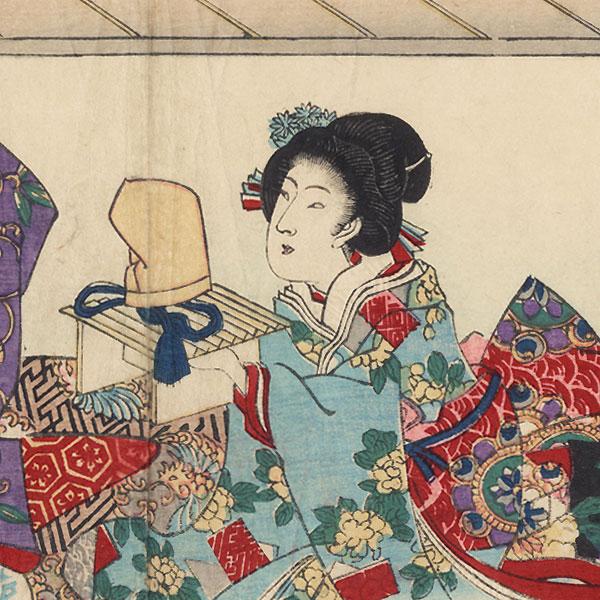 Yume-no-ukihashi, Chapter 54 by Toyokuni III/Kunisada (1786 - 1864)