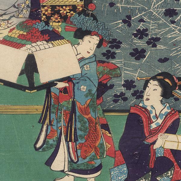 Utanosuke, 1861 by Toyokuni III/Kunisada (1786 - 1864)