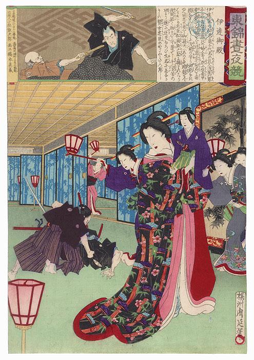 Date Mansion, No. 25 by Chikanobu (1838 - 1912)