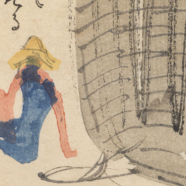 Fisherman and Nets by Takeuchi Seiho (1864 - 1942)