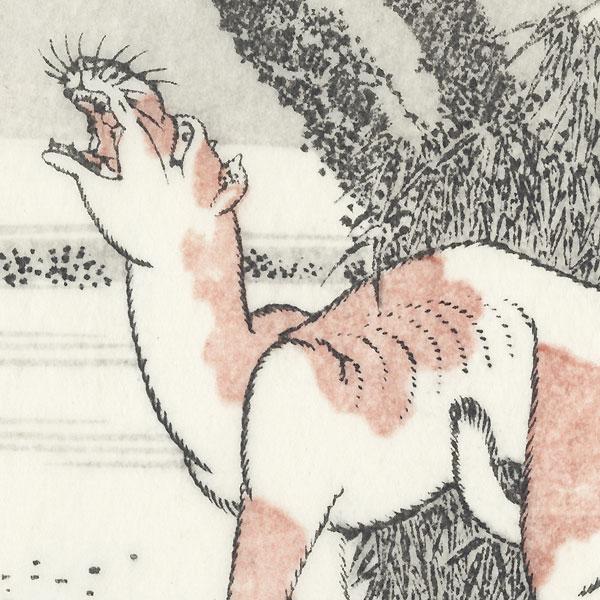 Fuji under the Moon by Hokusai (1760 - 1849)