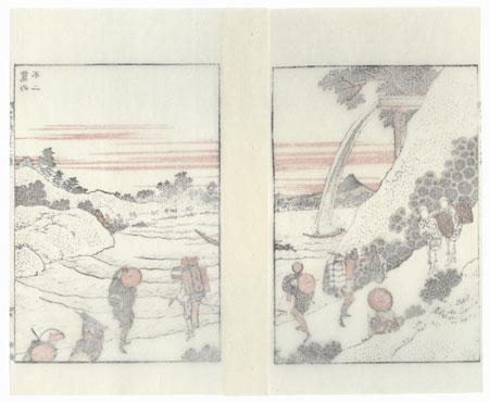 Fuji under a Sluice by Hokusai (1760 - 1849)